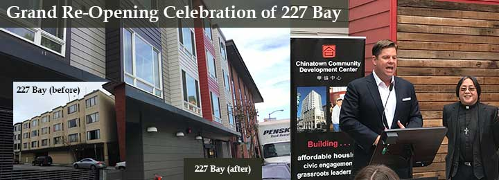 227 bay grand re-opening celebration